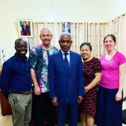 With Mr Daniel Ketta M'Bangud Mayor of Ouesso